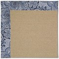 Capel Rugs Creative Concepts Sisal - Paddock Shawl Indigo (475) Rectangle 6