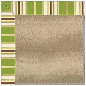 Capel Rugs Creative Concepts Sisal - Tux Stripe Green (214) Rectangle 12' x 15' Area Rug