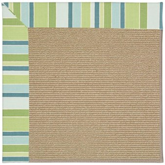 Capel Rugs Creative Concepts Sisal - Capri Stripe Breeze (430) Rectangle 12' x 15' Area Rug
