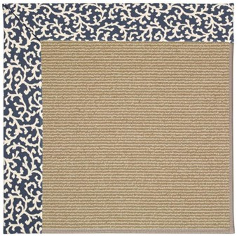 Capel Rugs Creative Concepts Sisal - Coral Cascade Navy (450) Rectangle 12' x 15' Area Rug