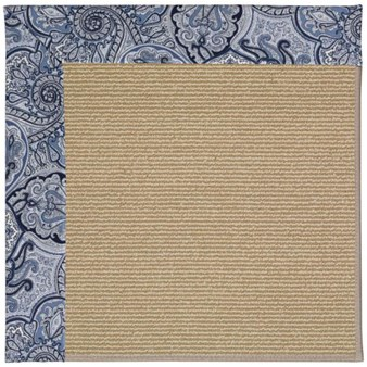 Capel Rugs Creative Concepts Sisal - Paddock Shawl Indigo (475) Rectangle 12' x 15' Area Rug