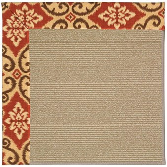 Capel Rugs Creative Concepts Sisal - Shoreham Brick (800) Rectangle 12' x 15' Area Rug