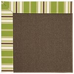 Capel Rugs Creative Concepts Java Sisal - Tux Stripe Green (214) Octagon 4' x 4' Area Rug