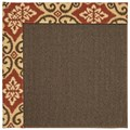 Capel Rugs Creative Concepts Java Sisal - Shoreham Brick (800) Octagon 4