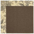 Capel Rugs Creative Concepts Java Sisal - Cayo Vista Graphic (315) Octagon 12