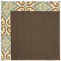 Capel Rugs Creative Concepts Java Sisal - Shoreham Spray (410) Rectangle 9