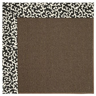 Capel Rugs Creative Concepts Java Sisal - Coral Cascade Ebony (385) Rectangle 12' x 15' Area Rug