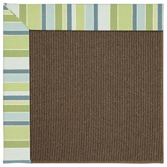 Capel Rugs Creative Concepts Java Sisal - Capri Stripe Breeze (430) Rectangle 12' x 15' Area Rug