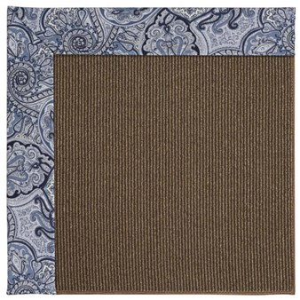 Capel Rugs Creative Concepts Java Sisal - Paddock Shawl Indigo (475) Rectangle 12' x 15' Area Rug