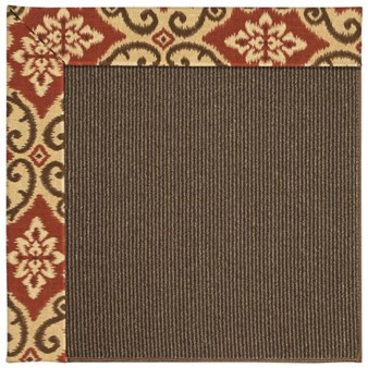 Capel Rugs Creative Concepts Java Sisal - Shoreham Brick (800) Rectangle 12' x 15' Area Rug