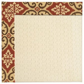Capel Rugs Creative Concepts Sugar Mountain - Shoreham Brick (800) Rectangle 7' x 9' Area Rug