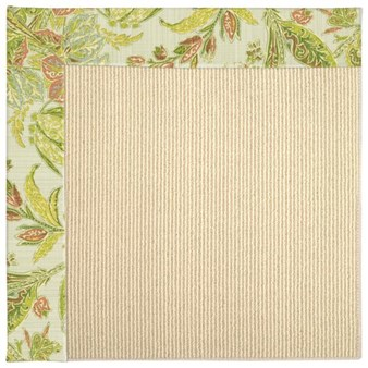 Capel Rugs Creative Concepts Beach Sisal - Cayo Vista Mojito (215) Rectangle 4' x 4' Area Rug