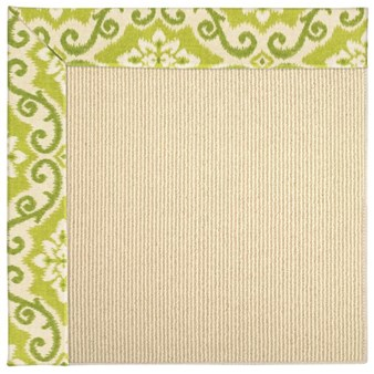 Capel Rugs Creative Concepts Beach Sisal - Shoreham Kiwi (220) Rectangle 4' x 4' Area Rug