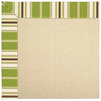 Capel Rugs Creative Concepts Beach Sisal - Tux Stripe Green (214) Rectangle 6' x 6' Area Rug