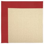 Capel Rugs Creative Concepts Beach Sisal - Canvas Jockey Red (527) Rectangle 6' x 6' Area Rug