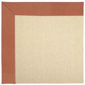 Capel Rugs Creative Concepts Beach Sisal - Canvas Persimmon (847) Rectangle 12' x 12' Area Rug