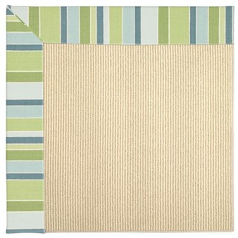 Capel Rugs Creative Concepts Beach Sisal - Capri Stripe Breeze (430) Rectangle 12' x 15' Area Rug