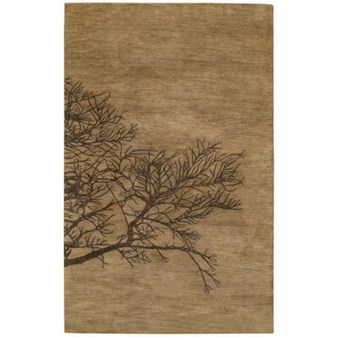 "Capel Graphique Shadow 775 Bark (3391 775) Rectangle 8'0"" x 11'0"" Area Rug"