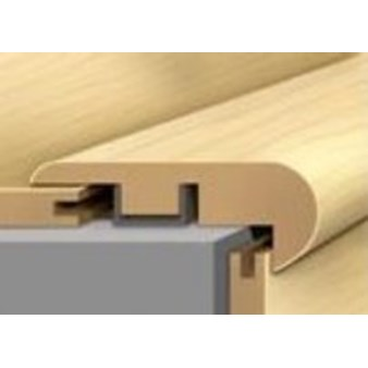 "Shaw Landscapes: Overlap Stair Nose Eastlake Hickory - 94"" Long"