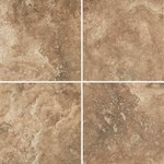 "Daltile Esta Villa: Cottage Brown 12"" x 12"" Glazed Porcelain Tile EV991212P1P2"