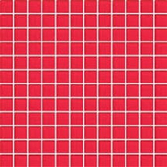 "Daltile Color Wave Glass Mosaic 1"" x 1"" : Red Hot CW3011MS1P"
