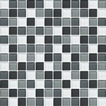 "Daltile Color Wave Glass Mosaic 1"" x 1"" : Evening Mixer CW2811MS1P"