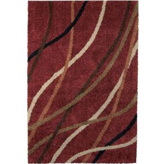 Orian Rugs Shag Ri La Gentle Breeze Red 1733 5x8
