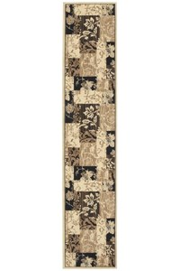 Nourison Collection Library Ashton House (AS24-BLK) Runner 2'0