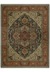 Nourison Collection Library Chambord (CM01-BRN) Rectangle 9'6
