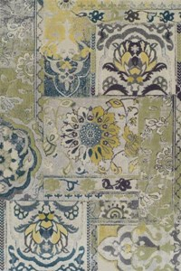 Nourison Collection Library Living Treasures (LI04-GRE) Rectangle 2'6
