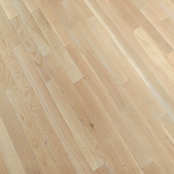 "Bruce Fulton Plank Oak: Winter White 3/4"" x 3 1/4"" Solid Oak Hardwood CB1523"