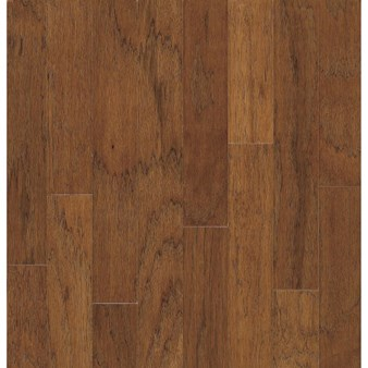"Bruce Turlington Lock&Fold Hickory: Falcon Brown 3/8"" x 5"" Engineered Hickory Hardwood EHK94LG"