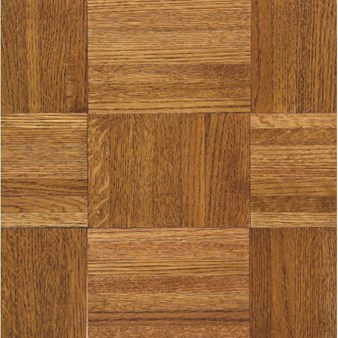 "Armstrong Urethane Parquet Oak: Honey 5/16"" x 12"" Solid Oak Hardwood 112140"