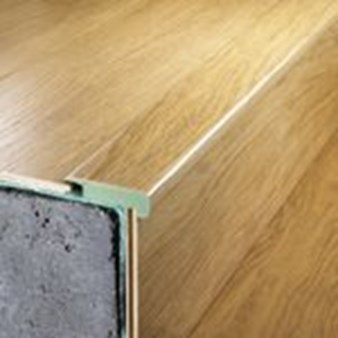 "Quick-Step Eligna: Stair Nose Chocolate Walnut Plank - 78.7"" Long"