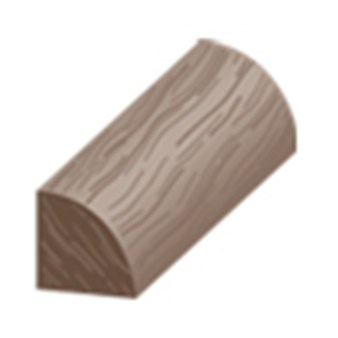 "Columbia Chase Hickory: Quarter Round Rustic Hickory - 84"" Long"