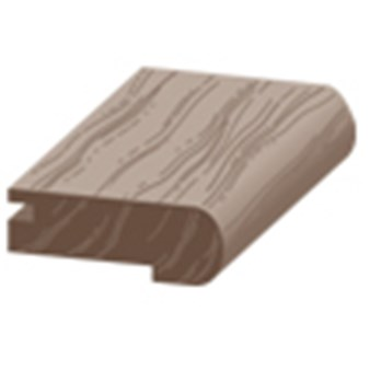 "Columbia Intuition with Uniclic: Overlap Stair Nose Cocoa Oak - 84"" Long"