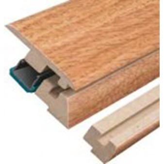 "Columbia Intuition with Uniclic: Incizo Trim Natural Pecan - 84"" Long"
