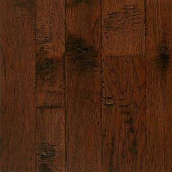 "Armstrong Artesian Hand-Tooled: Artesian Mull Spice 1/2"" x 4"", 5"" & 6"" Random Width Engineered Hickory Hardwood EMW6304Z"