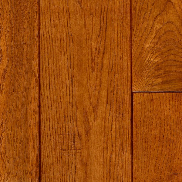 """LW Mountain Pre-Finished Hand-Scraped Oak: Golden 3/4"""" x 4 3/4"""" Solid ..."""
