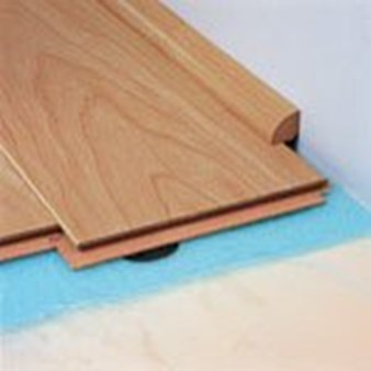 "Quick-Step Eligna:  Quarter Round Brazilian Cherry Double Plank - 94"" Long"