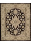 Capel Rugs Creative Concepts Cane Wicker - Sidewalk Lacquer-Ebony (920) Octagon 6' x 6' Area Rug