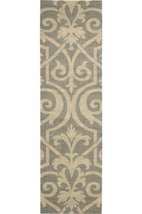 Capel Rugs Creative Concepts Cane Wicker - Sidewalk Lacquer-Ebony (920) Rectangle 5' x 8' Area Rug