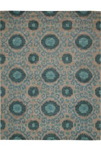 Capel Rugs Creative Concepts Cane Wicker - Java Journey Indigo (460) Rectangle 6' x 6' Area Rug