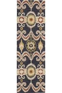 Capel Rugs Creative Concepts Cane Wicker - Java Journey Henna (580) Rectangle 6' x 6' Area Rug