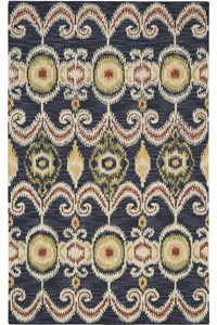 Capel Rugs Creative Concepts Cane Wicker - Canvas Sun Tile (612) Rectangle 6' x 6' Area Rug