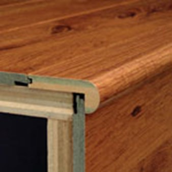 "Armstrong Premium Lustre: Overlap Stair Nose Blizzard Pine - 94"" Long"