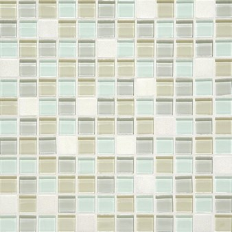 "Daltile Mosaic Traditions: Oasis 1"" x 1"" Glass Mosaic Tile BP98-11MS1P"