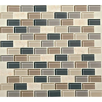 "Daltile Mosaic Traditions: Skyline 3/4"" x 1-1/2"" Glass Brick-joint Mosaic Tile BP99-34112BJMS1P"