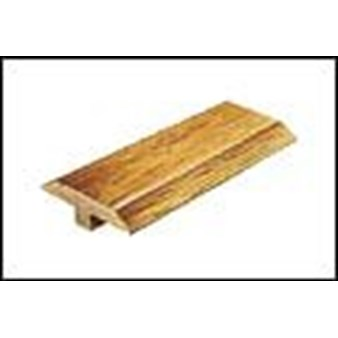 "Mannington Trade Winds Collection:  Canelo Teak Plank Natural T-Mold - 84"" Long"