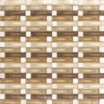 "Daltile Intertwine: Acoustic 5/8"" x 2"" Glass Mosaic Tile F174-12BLENDMS1P"